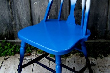 ombre chair design sponge
