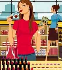 Girl-Shopping-for-Makeup-
