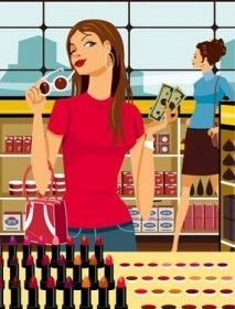 Girl-Shopping-for-Makeup-