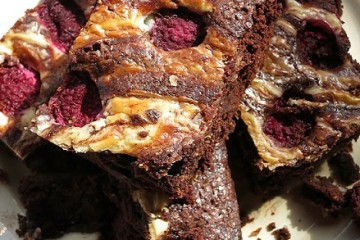 chocolate-raspberry-brownies