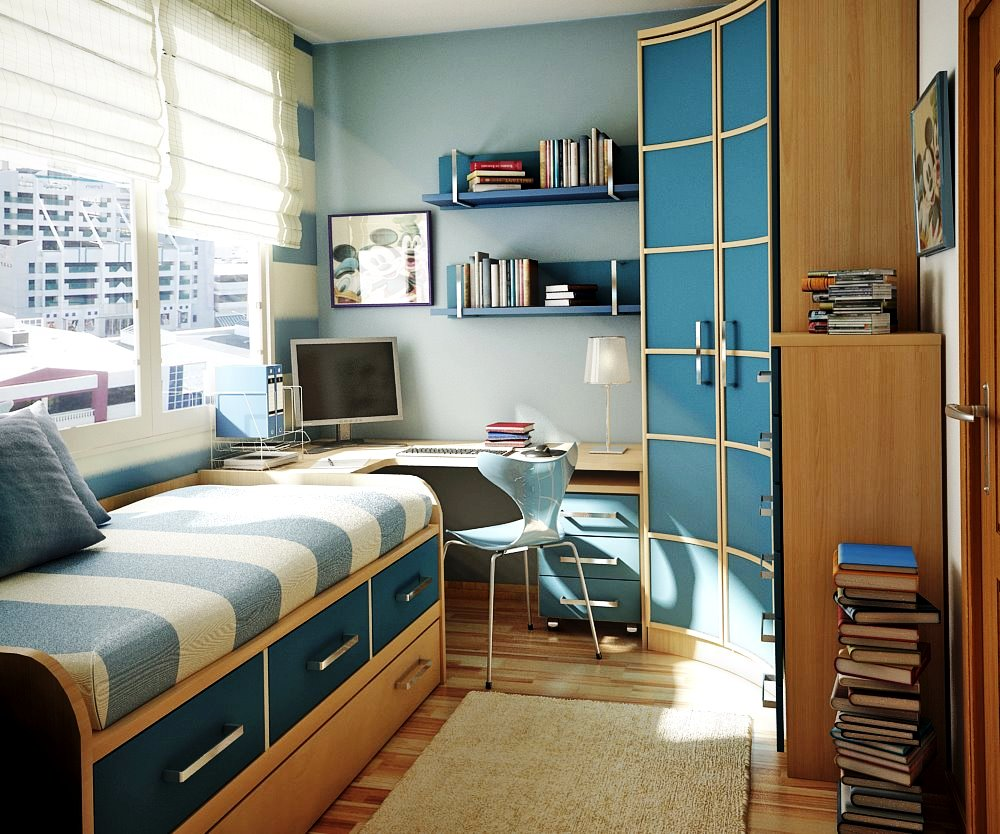 bedroom design for small space - Small Spaces Bedroom Furniture