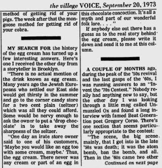 An old Village Voice Clipping from 1976 trying to explain what I'm explaining... Photo Credit: Jerry's Brokendown Palaces jerrysbrokendownpalaces.blogspot.com