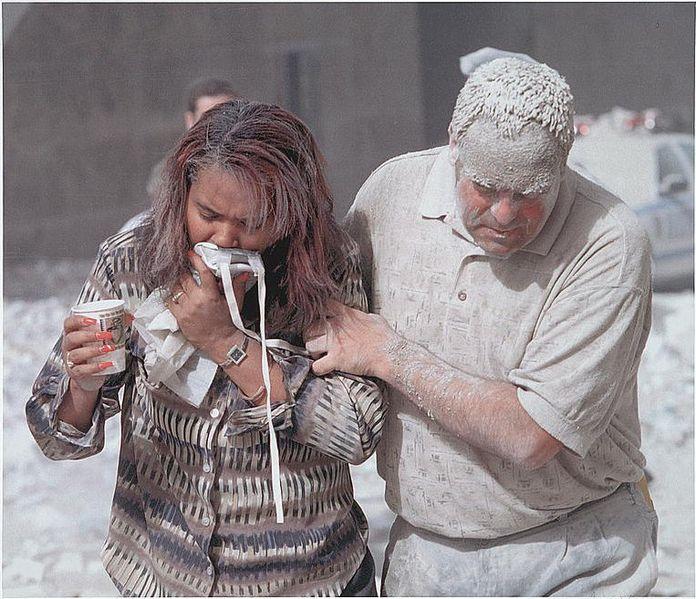 Covered in soot and toxins on 9/11 Via- algemeiner.com