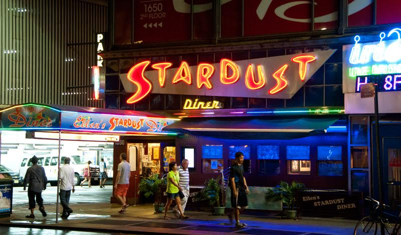 Maybe NYC's most famous 24 hour diners: Ellen's Stardust Diner.
