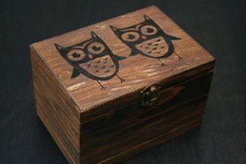 etsy owl example recipe box