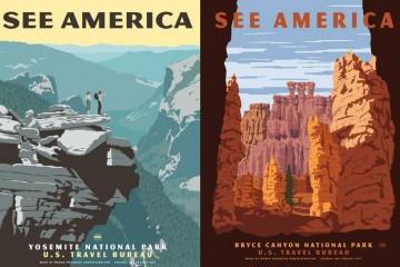 vtg national park posters