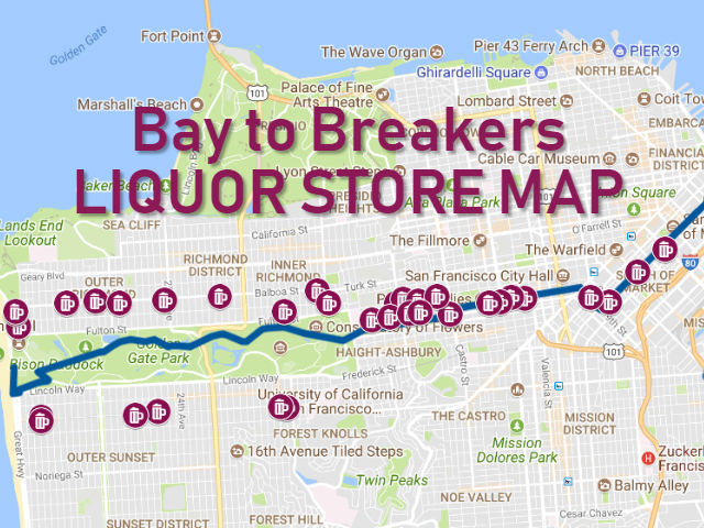 Bay To Breakers Map Bay to Breakers Liquor Store Map 2018   Broke Ass Stuart's San  Bay To Breakers Map
