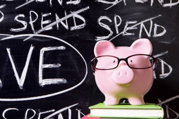 Piggy Bank with savings message