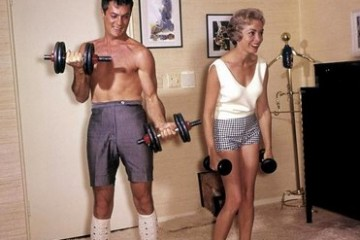 Retro workout wear