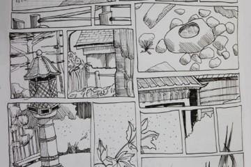Japanese-tea-garden-san-francisco-golden-gate-park-sketch-comic