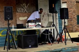 Central City Porch DJ on Mardi Gras Morning