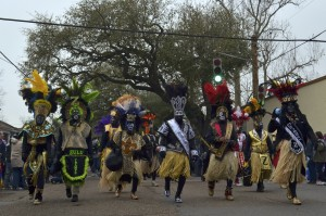 Zulu Tramps on Jackson Ave. Mardi Gras Day