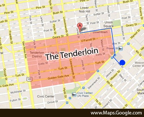 Tenderloin San Francisco Map  Michigan Map