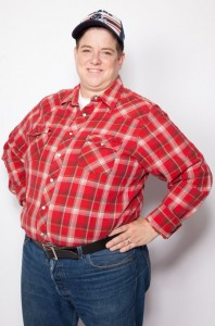 "Leigh Crow as Dan in ""Roseanne"", image Courtesy Velvet Rage Productions"