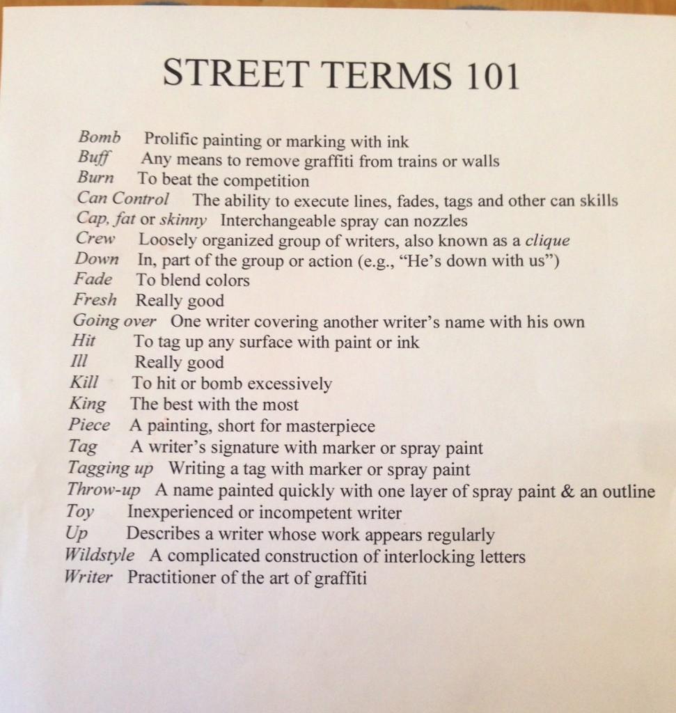 street-terms