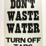 Vintage 1970s water conservation poster