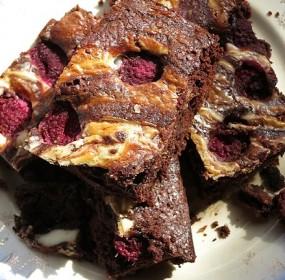 brownies-raspberry