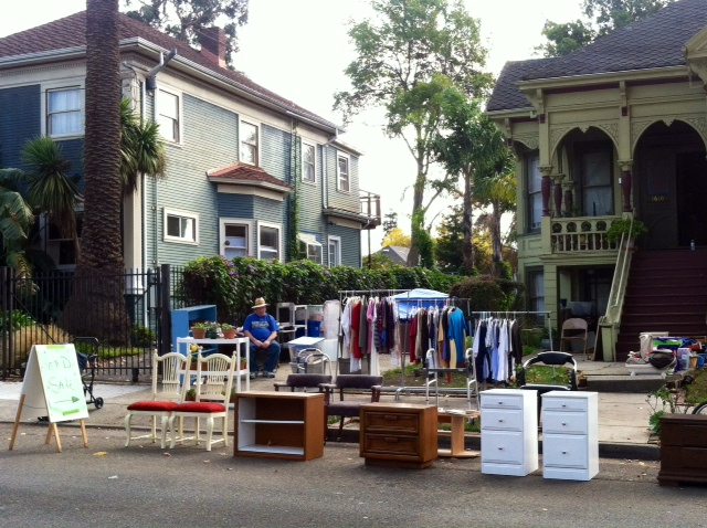 Berkeley-yard-sale-with-lots-of-furniture