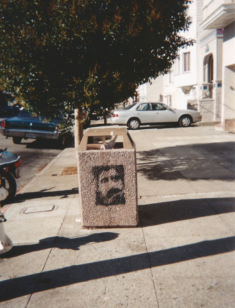 Proust on garbage can