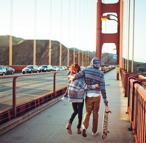couple-golden-gate bridge