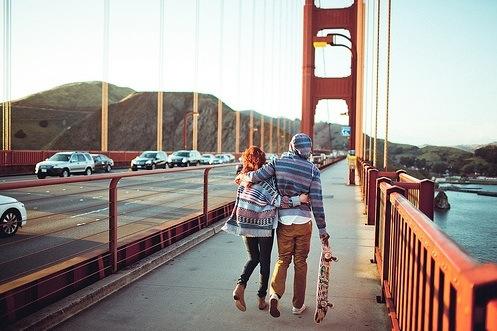 couple-golden-gate bridge