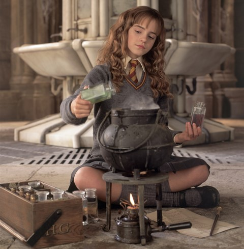 Hermione honey...just squat and hover over that cauldron