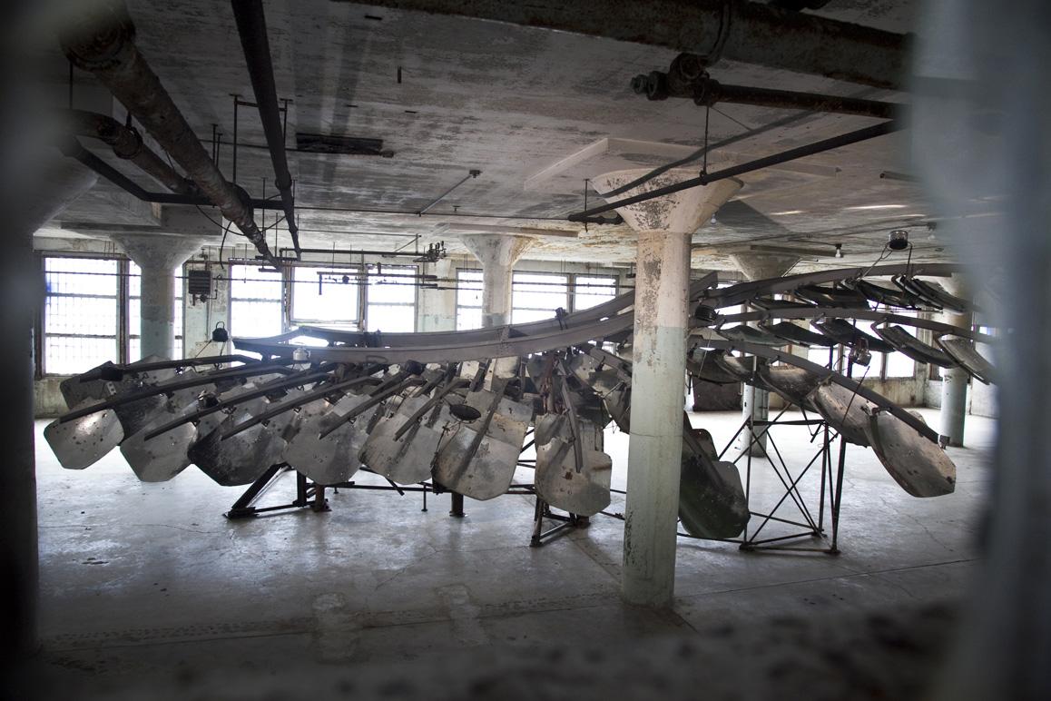 Ai Weiwei, Refraction, 2014 (installation view, New Industries Building, Alcatraz)