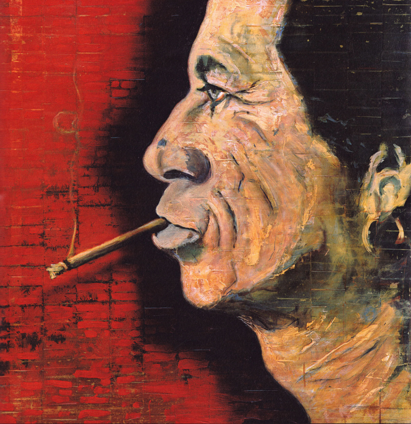 'Keith Richards' by Johnny Depp.  Courtesy of www.deppimpact.com