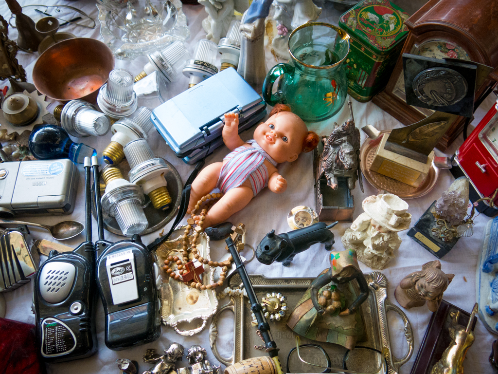 This assortment of stuff the most important of which is obviously this completely non-terrifying doll.