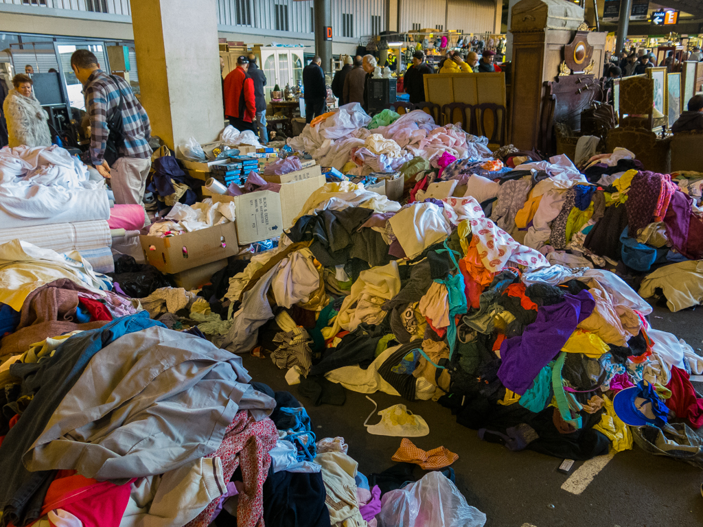 Piles of clothes that bats probably live in and dress up like little winged people at night, like in some sort of Fraggle Rock or perhaps the actual entrance to Fraggle Rock OMG YOU GUYS.