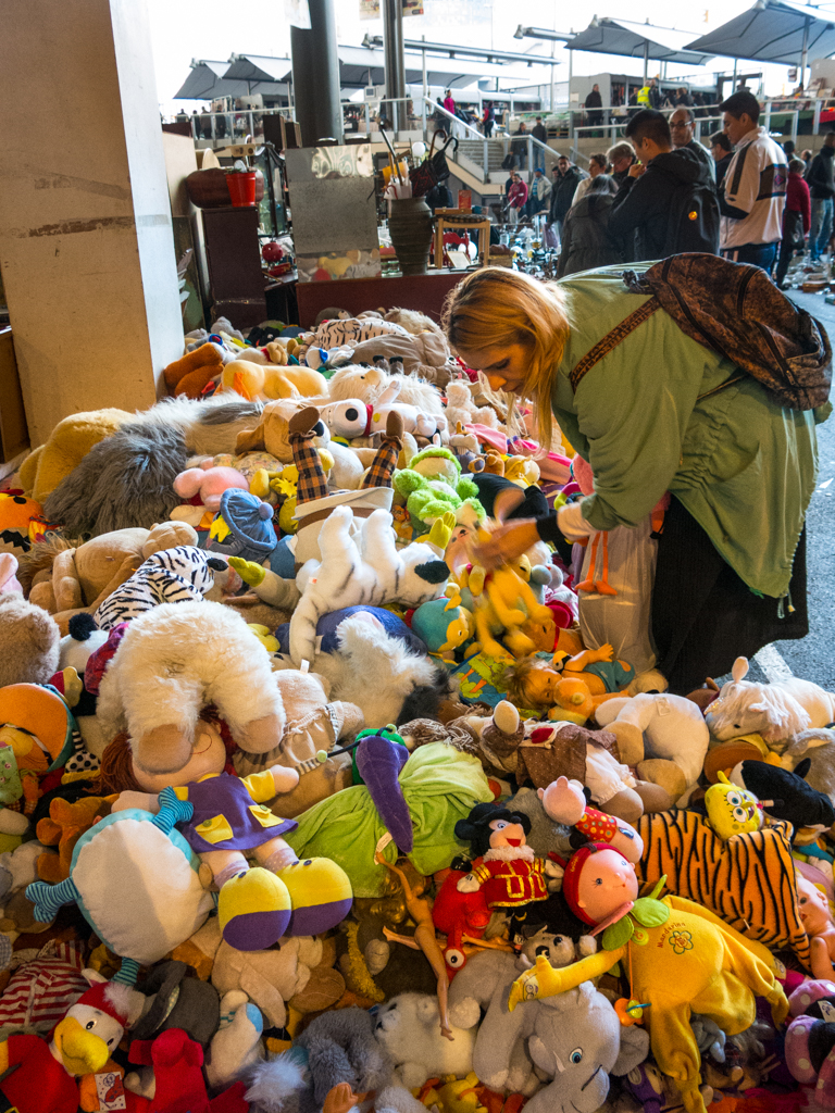 This pile of stuffed animals that hopefully squeaks annoyingly when you jump in it, a piece of information that I am unfortunately not privy to because I resisted the temptation to push this unsuspecting, random lady into it as I walked by.