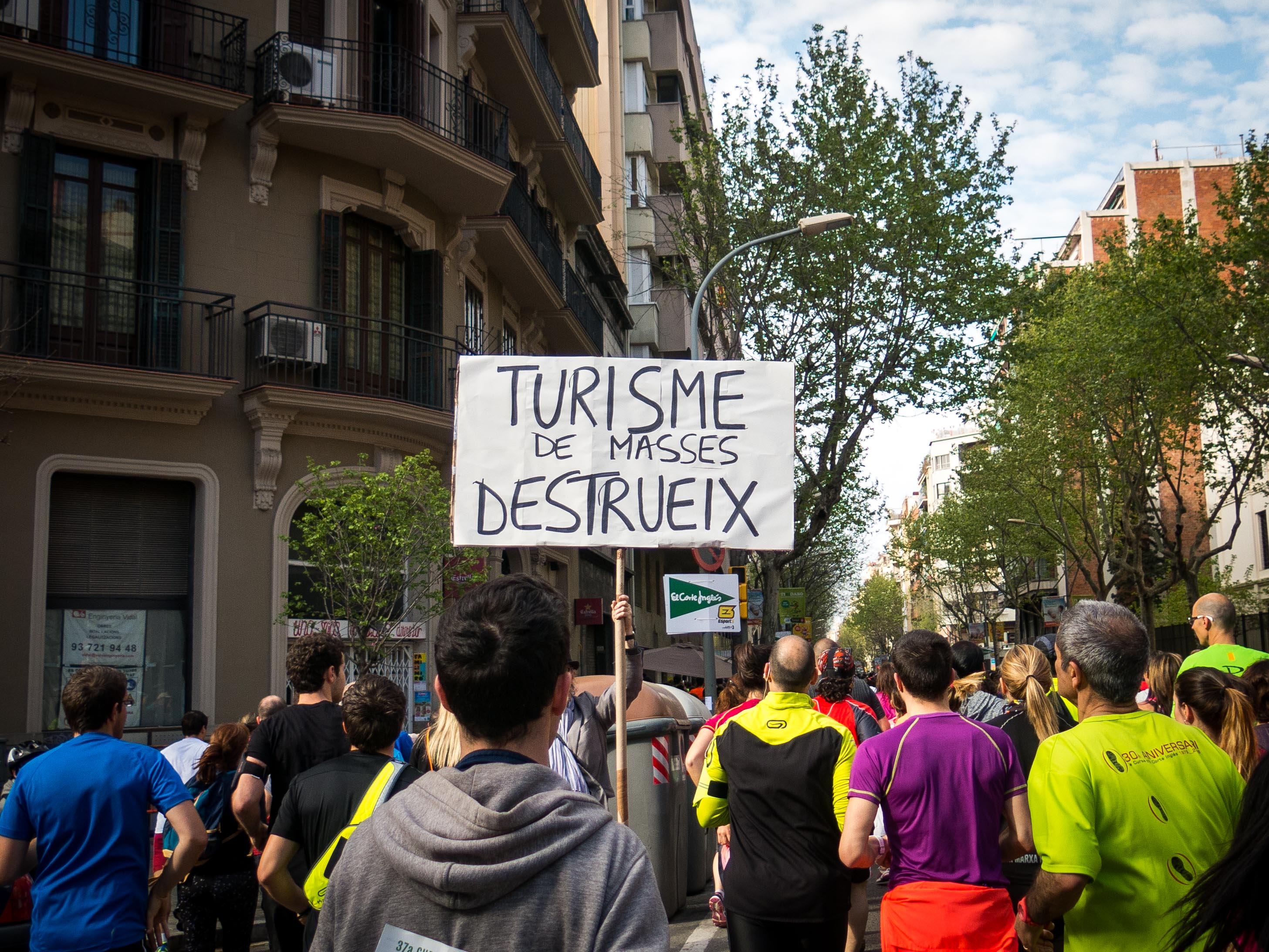 "DO -Bring your Catalan language dictionary to decode anti-mass tourism takeover signs (""Mass Tourism Destroys""). DON'T  -Get noticed when you take a picture of it because you will get pursued and ranted at for about a block."