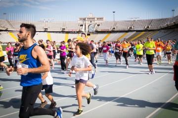 """Barcelona's """"El Corte Ingles"""" 10k run in the Olympic Stadium"""