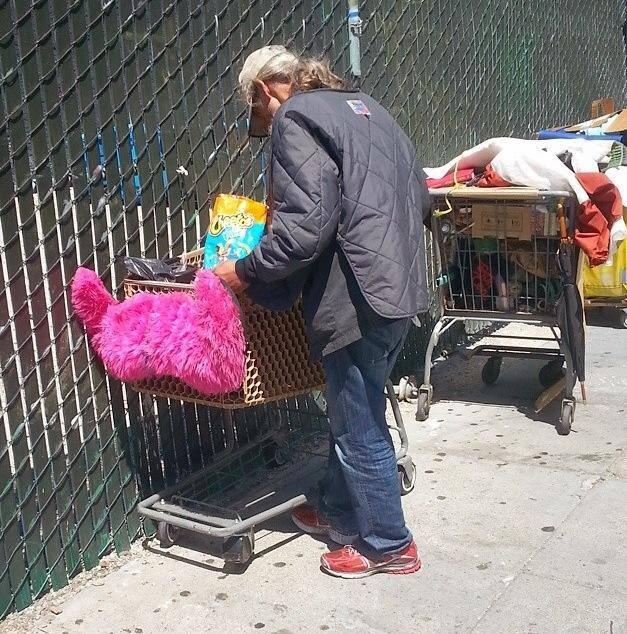 lyft-mustache-homeless-shopping-cart-bum
