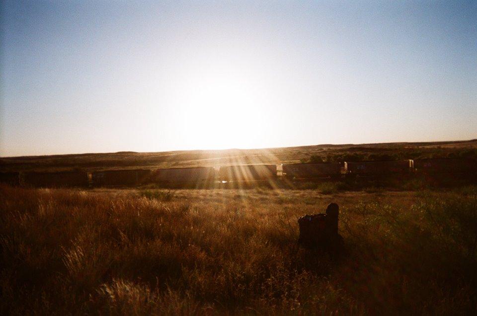 kelly-train-sunset