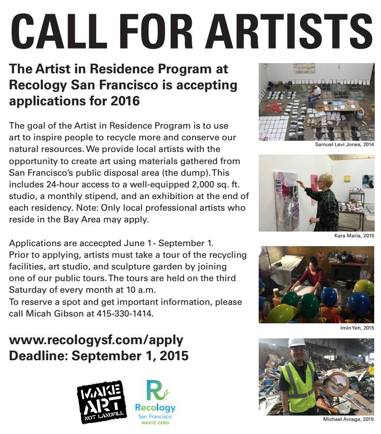 Recology Call to Artists