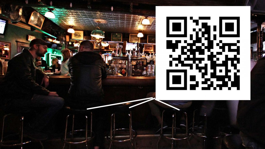 qr code on bar stools