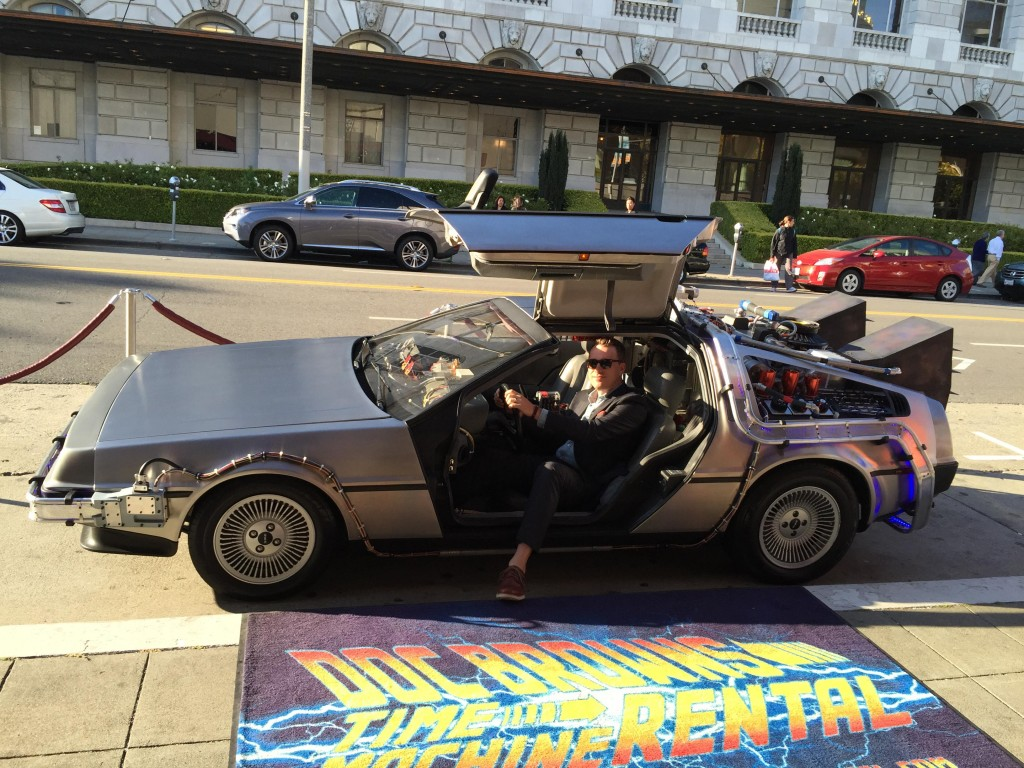 DeLorean complete with flux capacitor