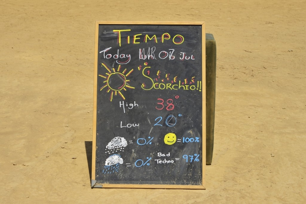 The super accurate weather forecast. You could more or less count on this all the time - it was literally so hot that the barometer exploded.