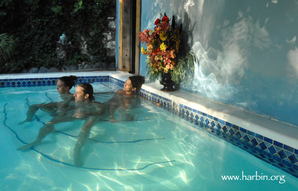 The warm pool at Harbin Hot Springs is for meditation and quiet reflection. (Photo by Luiza Leite, www.luizaleite.com)