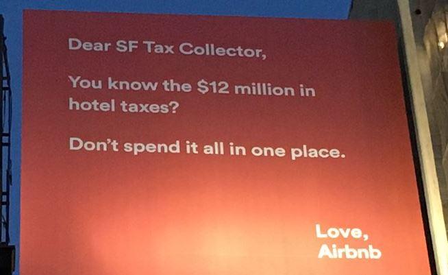 air bnb billboard tax