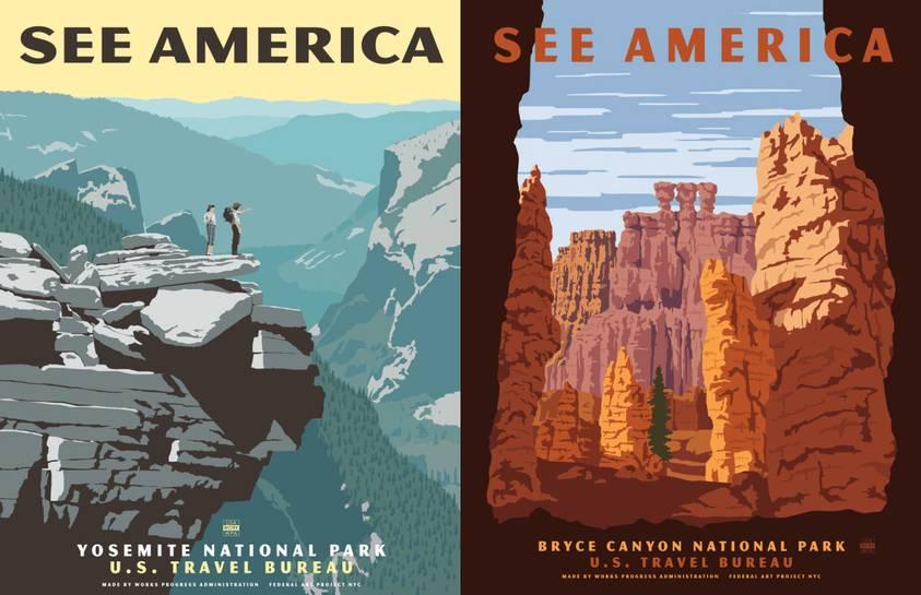 vtg national park poster