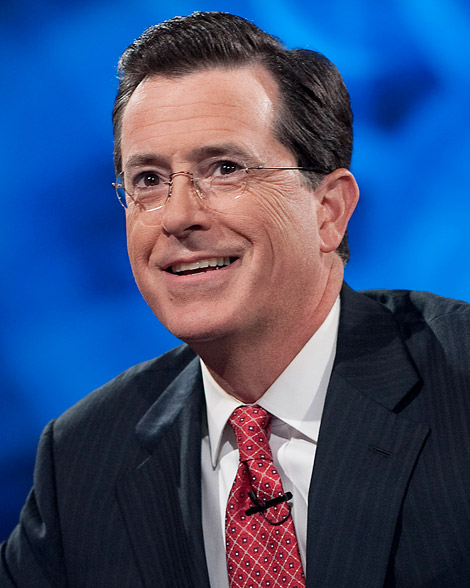 """NEW YORK - SEPTEMBER 8: Host Stephen Colbert appears during the """"Been There: Won That: The Returnification of the American-Do Troopscapeon"""" special of The Colbert Report on September 8, 2010 in New York City. (Photo by Scott Gries/PictureGroup)"""