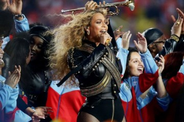 Beyoncé performs at Super Bowl 50
