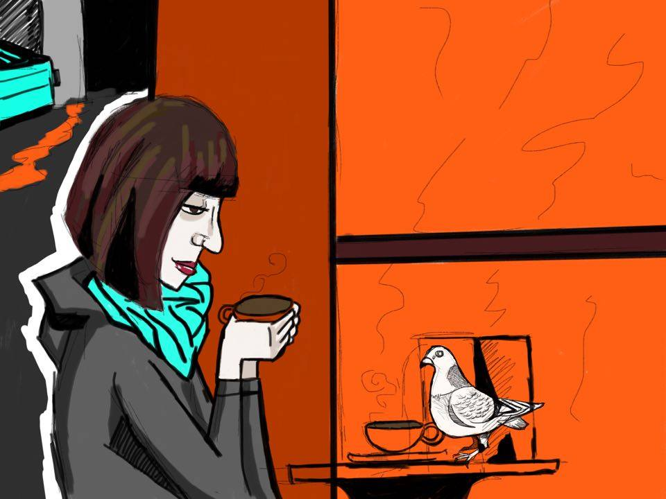 david-alvarado-art-illustration-how-to-kill-a-pigeon-coffeeshop