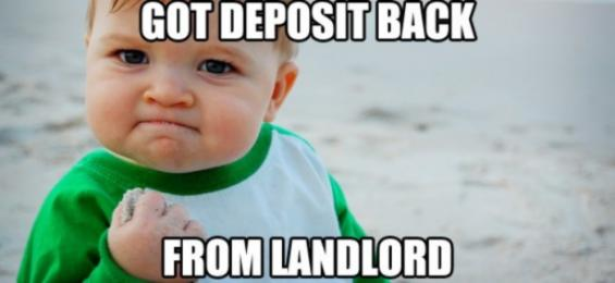 getting your security deposit back