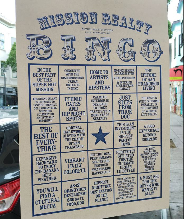 mission real estate bingo