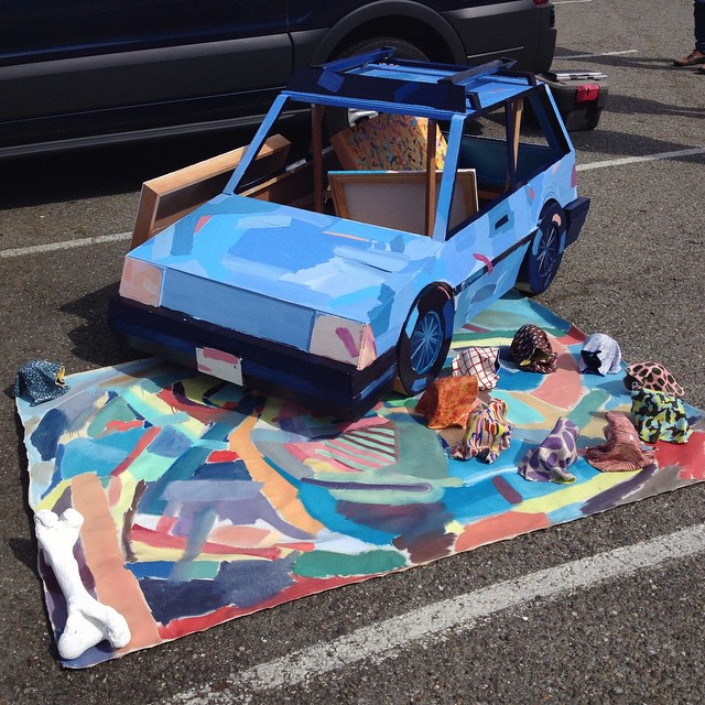 Artist Nick Makanna at Parking Lot Art Fair. Photo ybca
