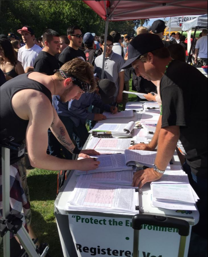 They were registering voters