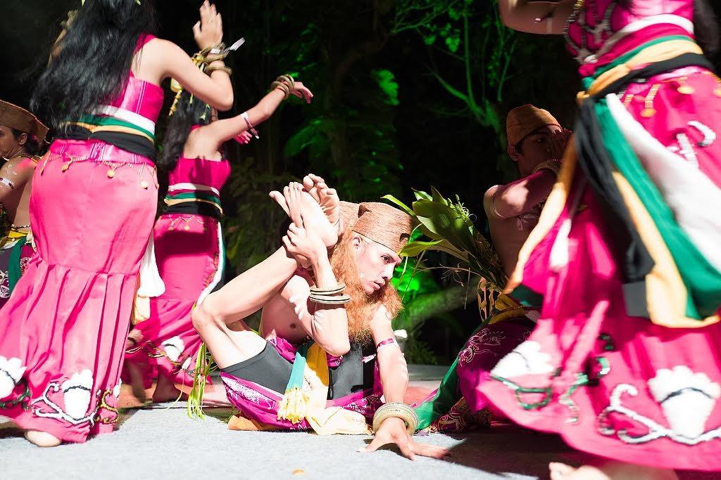 UBUD, BALI INDONESIA APRIL 2, 2016-- Spirit of the Hornbill Dance Academy performing at Bali Spirit Festival.Photo Credit: Victoria Smith